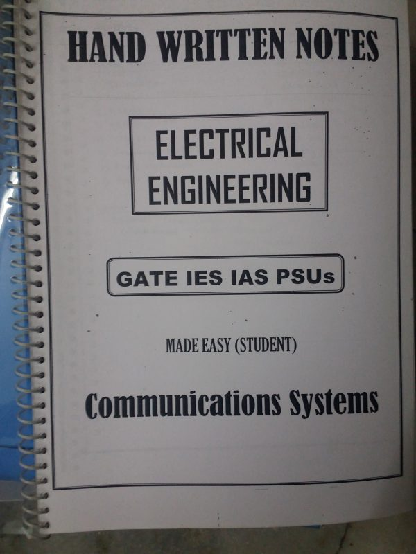 Electrical Engineering - Gate IES IAS PSUs - Handwritten Notes (13 Booklet  Set)-( Made Easy Class Notes)