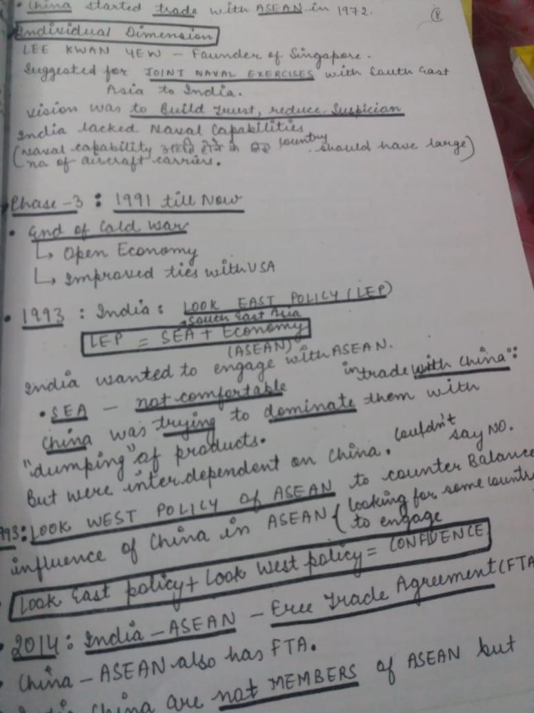 Vajiram & Ravi International Relations(GS) Handwritten Class Notes -2018