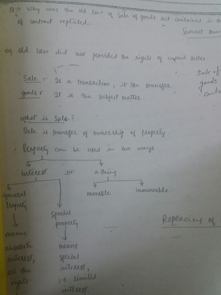 Rahul's Law Optional - Handwritten Class Notes