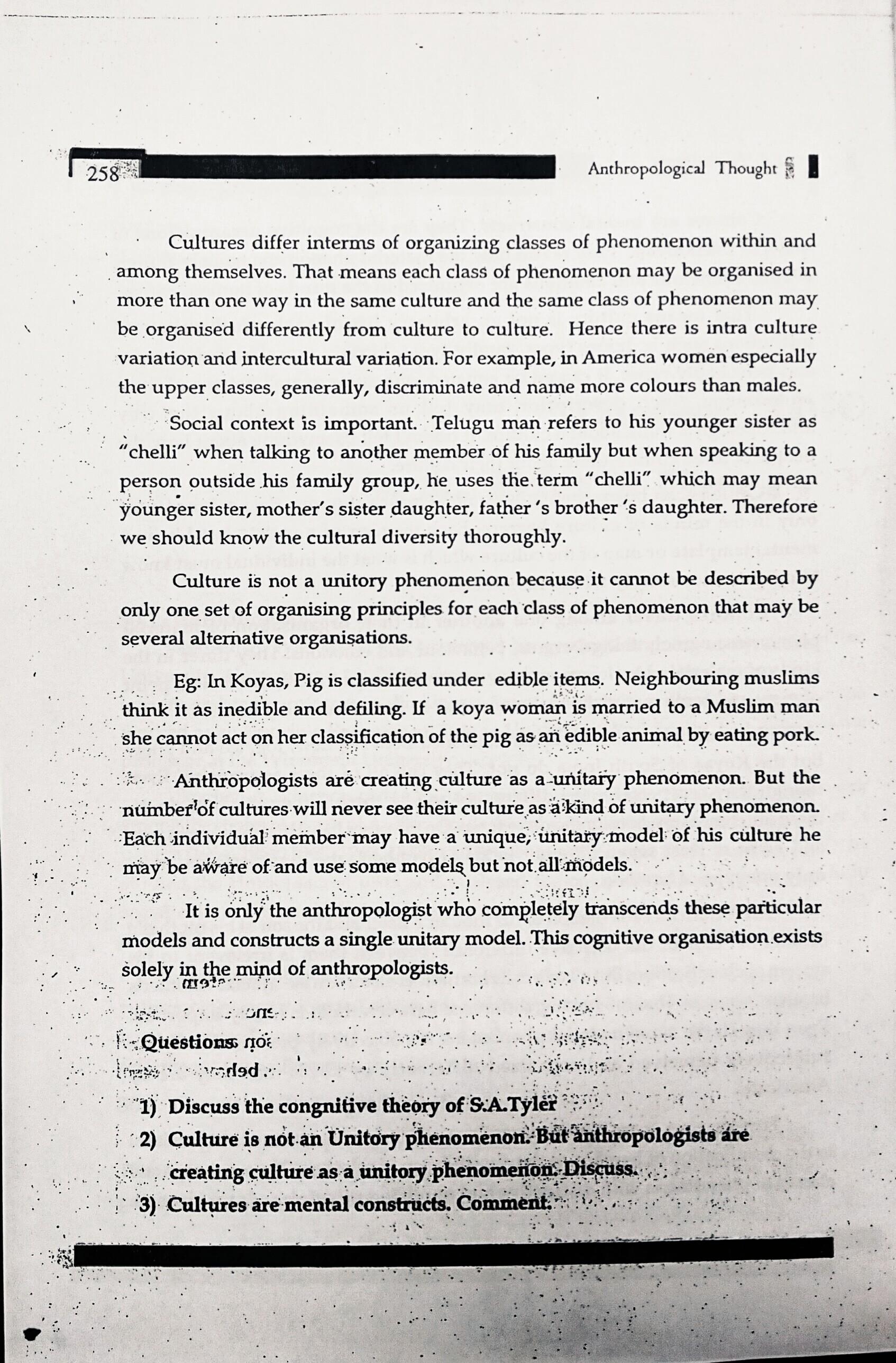 Telugu Academy - Anthropology Optional Study Material