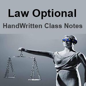 Rahul's Law Optional - Handwritten Class Notes