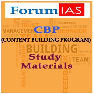 ForumIAS CBP(CONTENT BUILDING PROGRAM) Study Materials